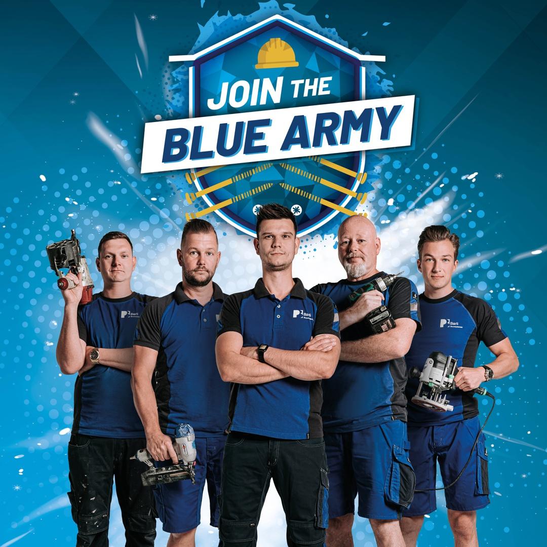 Join The Blue Army - bekijk onze actuele vacatures op www.werkenbijbarli.nl